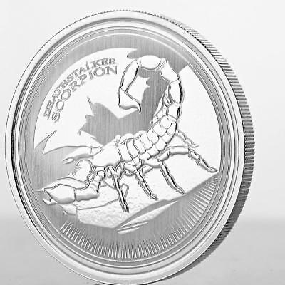2017 1 oz Deathstalker Scorpion .999 Silver Coin Prooflike Rep of Chad #A431