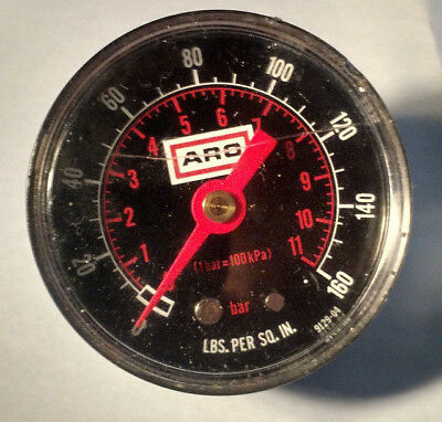 ARO 160 PSI pressure Gage size 2 in back connection 1/4 inch