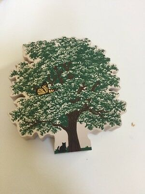 Cat's Meow Memorial Tree, Special, #E991  Butterfly Hospice Wood Block