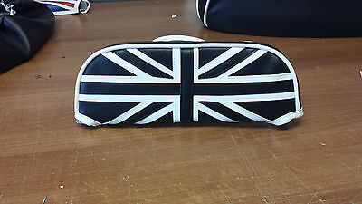ajs modena/milano Slipover Back Rest Pad union jack Design Black And White