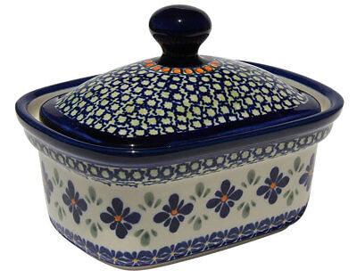 Polish Pottery Butter Tub from Zaklady Boleslawiec 1188-du60