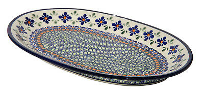 Polish Pottery Oval Platter From Zaklady Boleslawiec 1264/du60