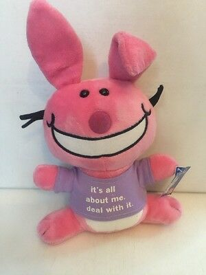 Gund Its All About Me Deal With It Pink Rabbit Plush