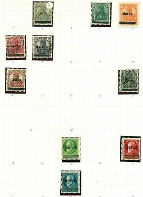 Saar collection Approx 200 different stamps. Catalog value over $250