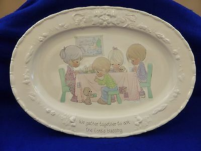 """Precious Moments LORD'S BLESSING Large 18"""" Oval Porcelain Serving Platter w Box"""