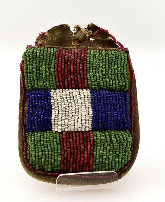 c. 1890 Sioux Beaded Bag