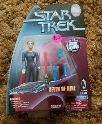 Playmates 1999 Star Trek International Edition Cobalt Seven of Nine RARE NEW