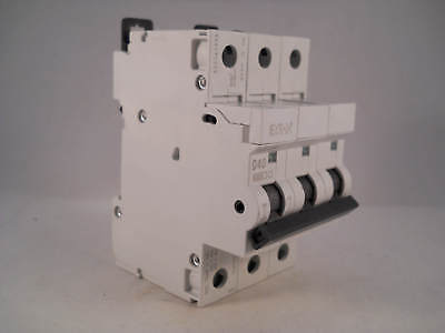 MEM MCB 40 Amp Triple Pole 3 Phase Breaker Type D 40A D40 Memshield 2 MDL340 NEW