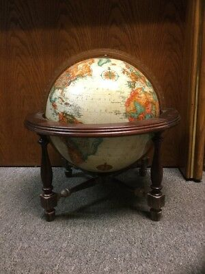 "Replogle World Classic Series 12"" Globe ~Wood Table Stand"