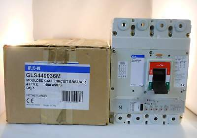 Eaton MCCB 400 Amp Four Pole 400A TPN Breaker Series G GLS440036M NEW