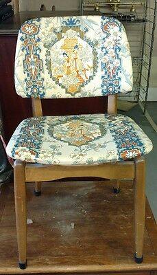Stakmore Mid Century Modern blonde wood folding chair nice condition #EA0001
