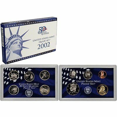 2002-S Proof Set United States US Mint Original Government Packaging Box & COA