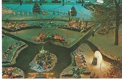 Christmas Village, Ogden-Weber Municipal Park, Utah, Vintage Unused Postcard