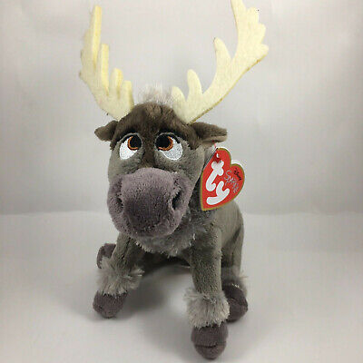 "Ty Beanie Baby Boo's 6"" Sven the Reindeer Stuffed Plush MWMT'S New w/ Heart Tags"