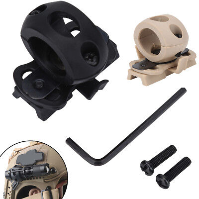 Tactical Hunting FAST Helmet Flashlight Rails Single Clamp Holder Accessories TP