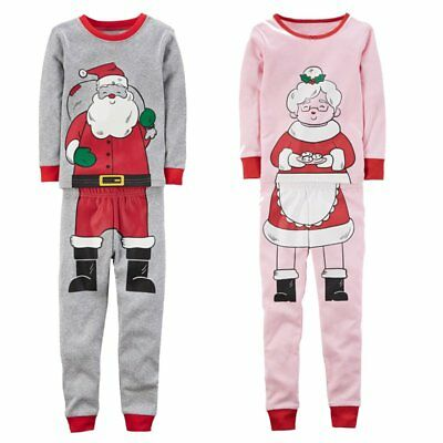 Christmas Santa Claus Kids Baby Boys Girls Pyjamas Pjs Set Clothes Aged 2-7 Yrs