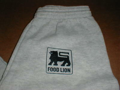 Food Lion Store NOS Retro New adult Small-Med jogging sweat pants gray rare