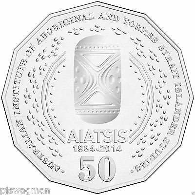 2014 AIATSIS 50 Cent UNC (Fifty Cent) Aboriginal Torres ( Low Mintage )