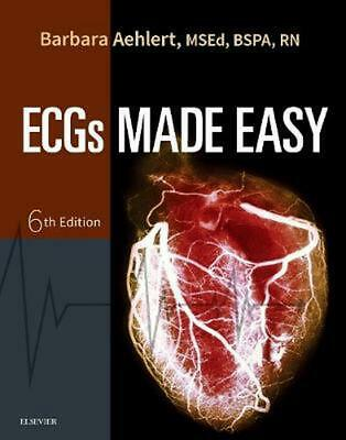 Ecgs Made Easy 6th Edition by Barbara Aehlert Paperback Book Free Shipping!