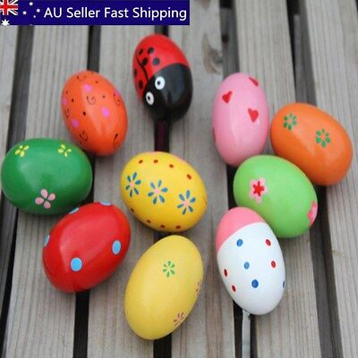 4Pcs Wooden Egg Maracas Music Shaker Instrument Rhythm Kids Baby Toy Gift 2017