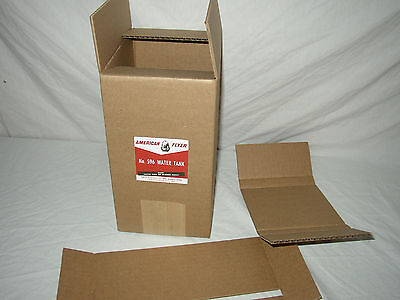 American Flyer 596 Water Tank Repro Box+Inserts No Water Tank Box Only