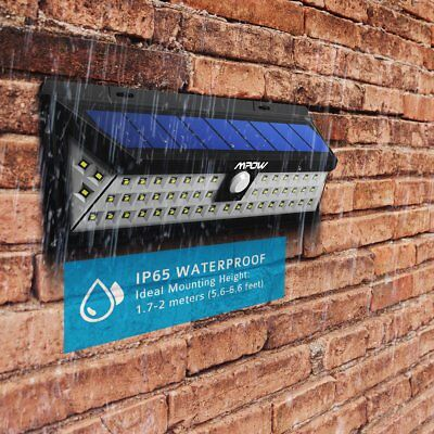 Mpow 54 LED Solar Powered Light Wireless Security Outdoor Waterproof Wall Lamp