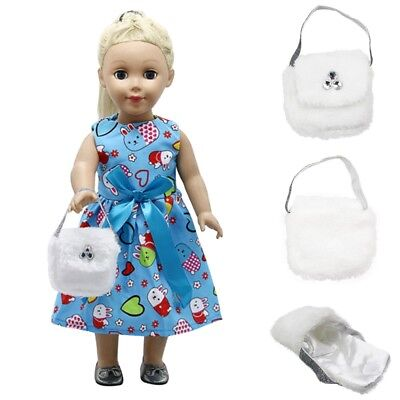 New white soft bag for American girl doll of 18 inch doll accessories