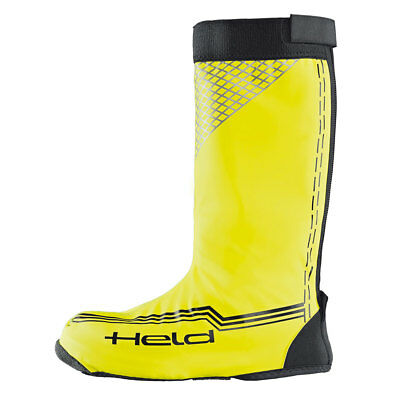 Held Skin Black / Fluo Yellow Motorcycle Motorbike Over Long Boots  | All Sizes