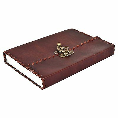 Handmade Vintage Antique Looking Pure Leather Journal Notebook buckle Closure