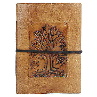 Leather Journal handmade Antique Look Travel Notebook Artist Tree of Life Brown