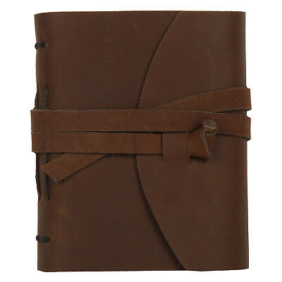 Handmade Small Antique Looking Genuine Leather Bound Journal Diary Notebook Gift