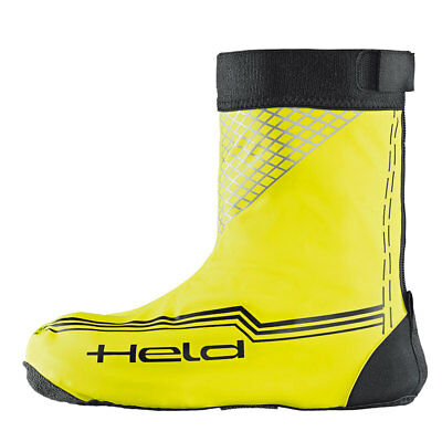 Held Skin Black / Fluo Yellow Motorcycle Motorbike Over Short Boots  | All Sizes