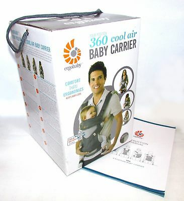 NEW in BOX ERGOBABY 360 4 Position Ergo baby carrier / COOL AIR MESH CARBON GREY