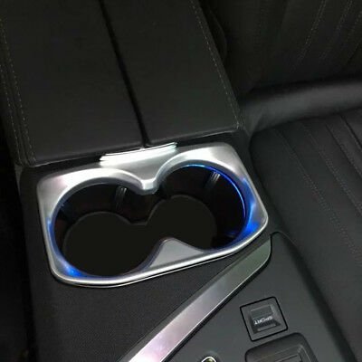 Interior Water Cup Holder Cover Trim ABS matte Fit For Peugeot 3008 GT 2017 2018