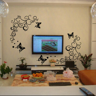 Butterfly Removable Wall Decal Stickers Television  Mural DIY Home Room Decor