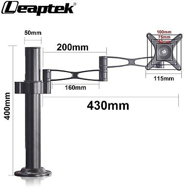 """Single Arm Desk Mount Computer Monitor Bracket Stand 13-27"""" Screen TV Cantilever"""