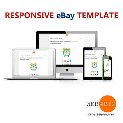 eBay Template Responsive Listing Template up to 8 Images in Product Slider👍❗️