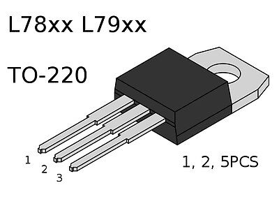 Voltage Regulator 78xx 79xx L78xx L79xx LM78xx LM79xx 1.5A T0-220 Packs of 1,2,5