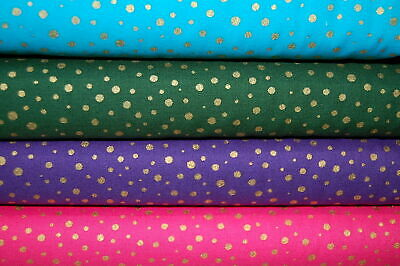 Moda Modafications Metallic Gold Spot/Polka Dot Christmas Cotton Fabric FQ/M