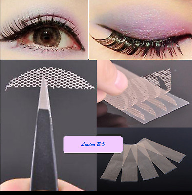 120 Pcs Double Eyelid Lift Lace Tape with Glue Tech Eye Strips Big Eye Makeup UK