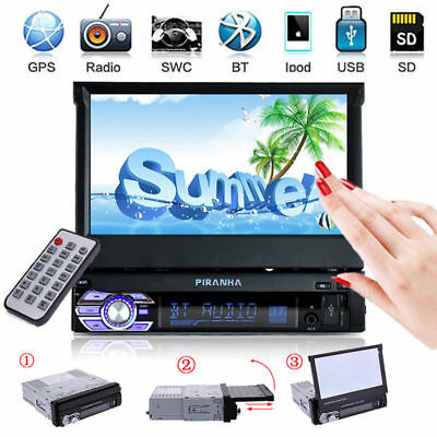 """7"""" HD Double 2 DIN Flip up Car Stereo MP5 MP3 Player Bluetooth Touchscreen Radio"""