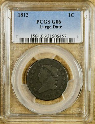 1812 Large Date PCGS G06 Large Cent