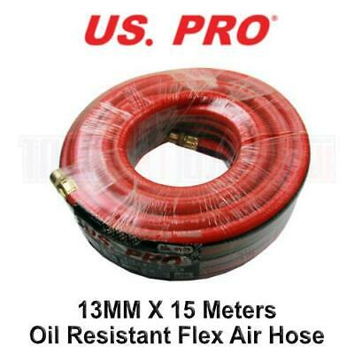 US PRO 13MM X 15 Meters Red Tough Flex Air Hose 20 Bar Oil Resistant 8163