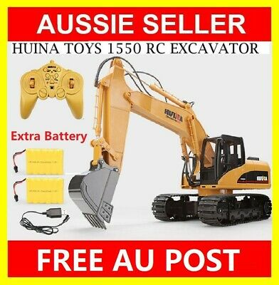 LARGE 1:12 HUINA RC Toy Alloy Excavator RTR Bulldozer Car 2.4GHz 15CH+2 BATTERY