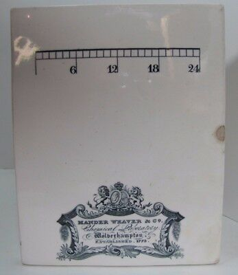 19c MANDER WEAVER Co CHEMICAL LABORATORY Adv Porcelain Apothecary Pill Tile Sign