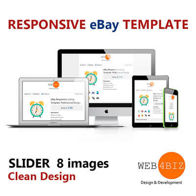eBay Template Responsive Listing Template for any Products. Professional Design