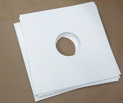 """5 x LARGE 12"""" LP WHITE CARD GLOSS FINISH RECORD VINYL SLEEVES COVERS"""