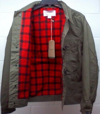 Filson Lined Short Cruiser Jacket - M L XL - Waxed Cotton - Made in USA 20009629
