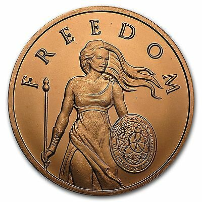 Standing Freedom 20 x 1 oz .999 Copper Rounds In Tube