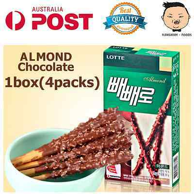 5 x Lotte PPEPPERO Pocky Biscuit Snack stick almond Chocolate and original taste